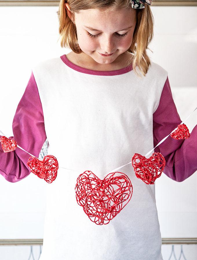 Valentine Yarn Ornament Tutorial
