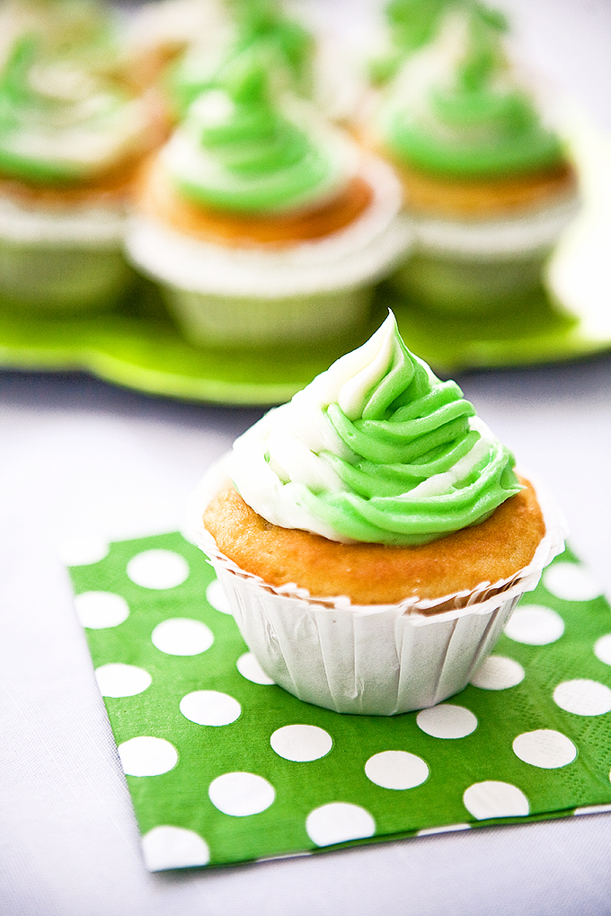 Mint Lime Cupcakes with Lime Curd Filling