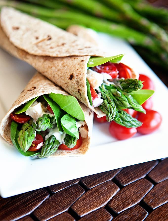 Chicken Asparagus Wraps : A Fifteen Minute Meal