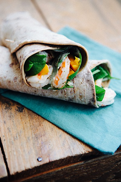 Shrimp and Mango Wraps