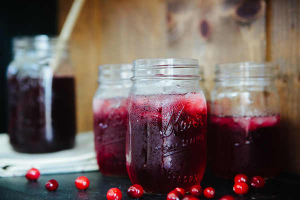 Cranberry Zinger Herbal Iced Tea Drink