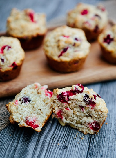 Cranberry Orange Muffins with Pine Nuts