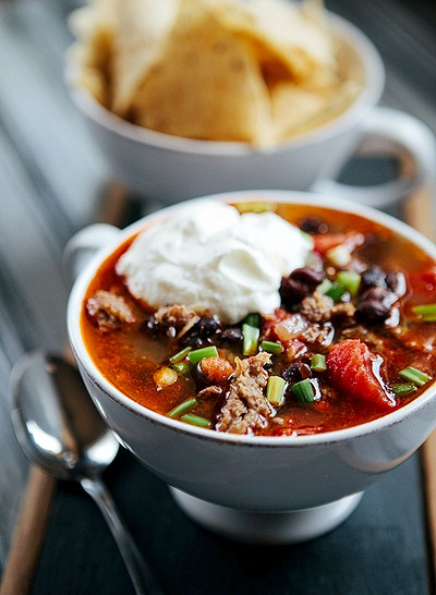 Mexican Black Bean Chili with Sausage