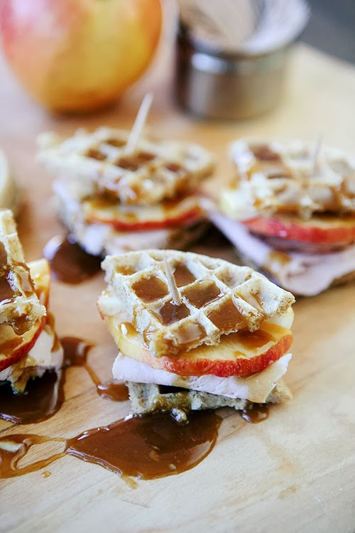Game Day Snacks: Honey Mustard Waffle Bites