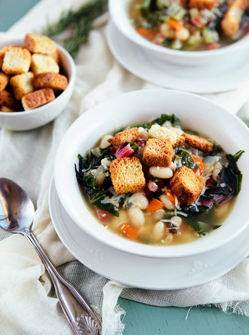 Rosemary White Bean Soup with Chard