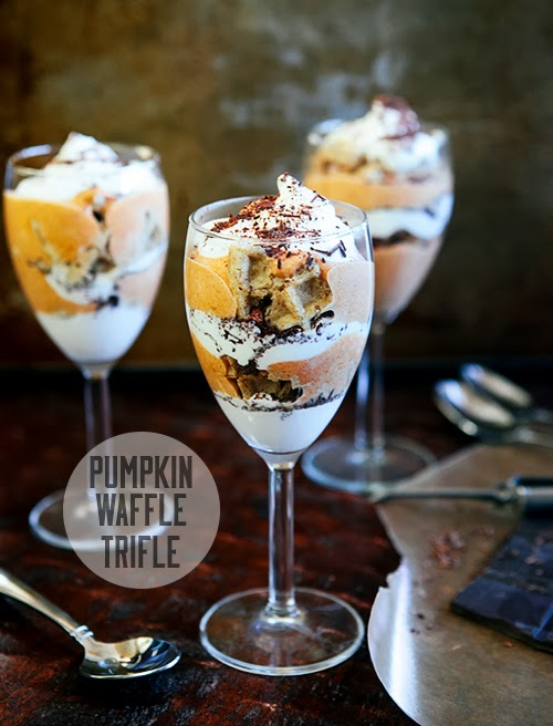 Pumpkin Waffle Trifle