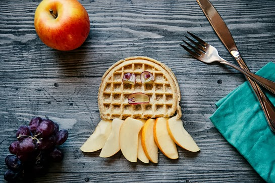 Animal Shape Breakfast:  How to Make a Waffle-Pus