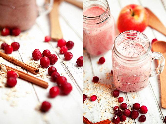 Cranberry Oatmeal Smoothie