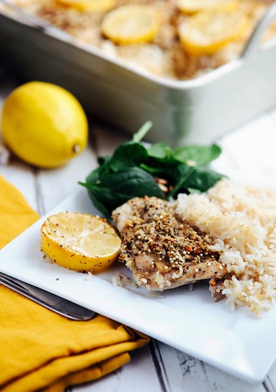 Lemon Pepper Chicken and Quinoa Rice