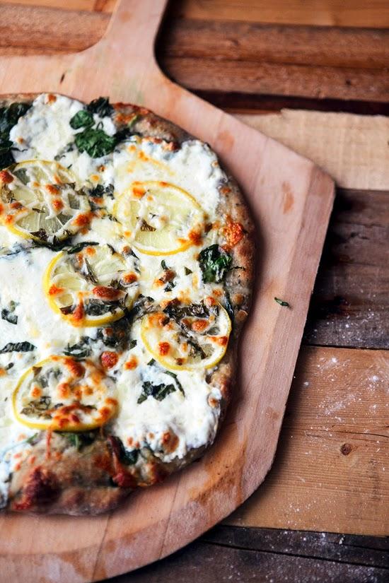 Lemon Basil Pizza