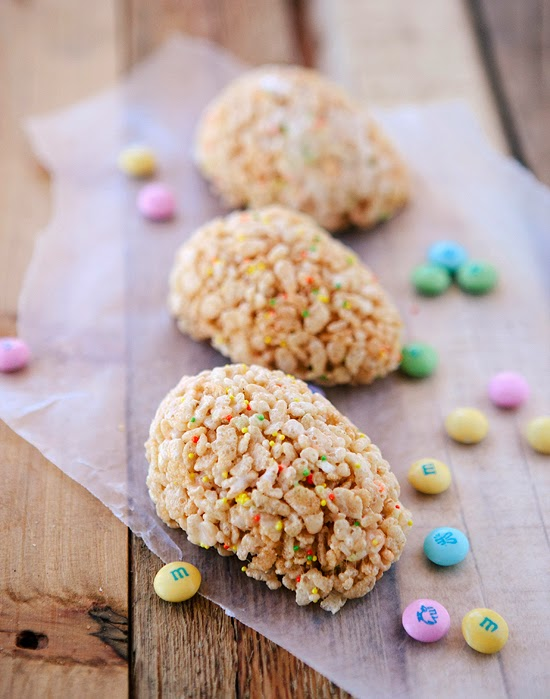 Lemon Chocolate Rice Krispies Treats for Easter