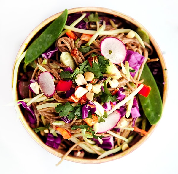 asian veggie peanut noodle bowl 5