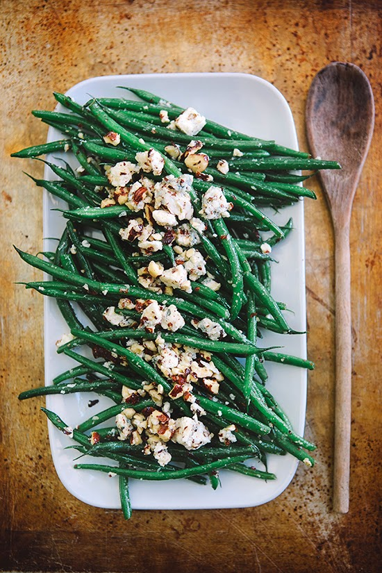 Hazelnut Green Beans with Blue Cheese