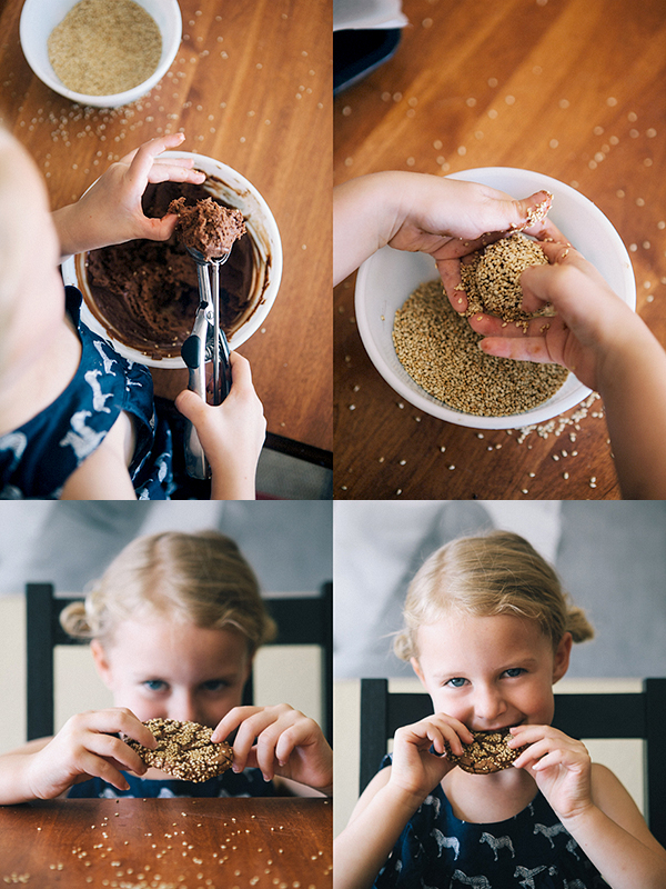 Chocolate Sesame Cookies2