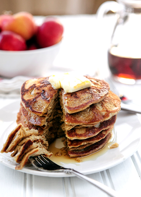 Oatmeal Apple Blender Pancakes (Gluten Free)