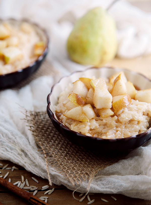 Spiced Pear and Ginger Rice Pudding