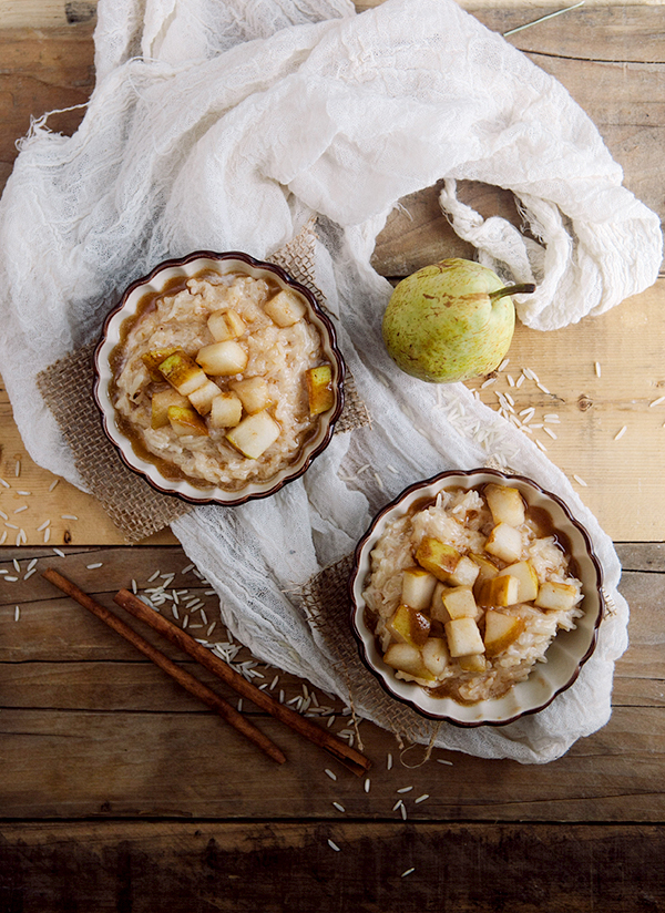 sauteed pear and ginger rice pudding-2