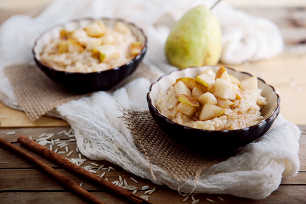 sauteed pear and ginger rice pudding-3