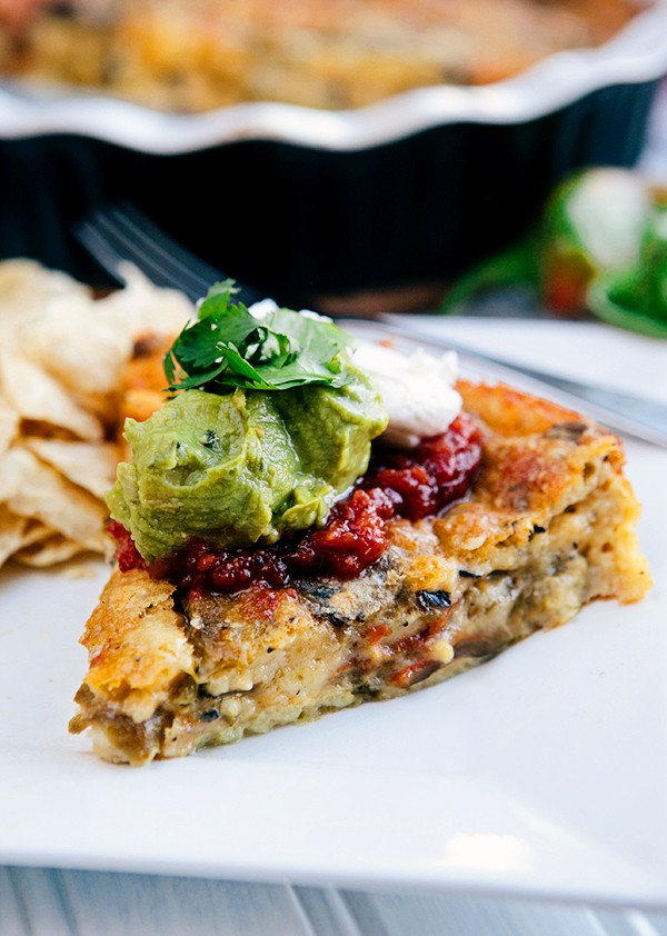 Roasted Green Chile Relleno Casserole