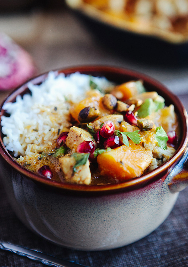 Moroccan Butternut Chicken Curry with Pomegranate | Some the Wiser