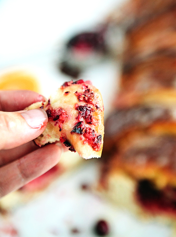 Cranberry Orange Roll Pull Apart Bread 2
