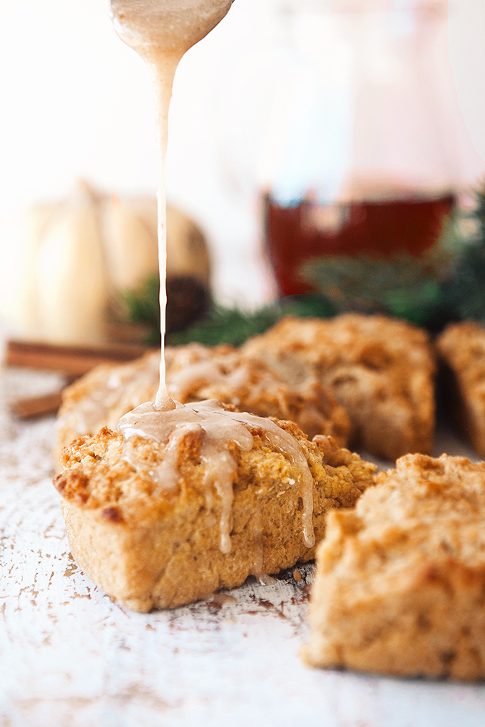 Putting a glaze on gingerbread scones