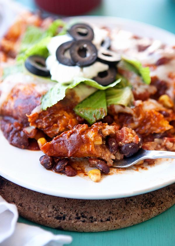 Slow Cooker Vegetarian Enchiladas