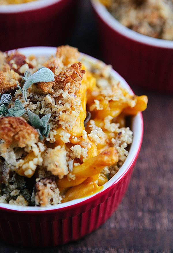 baked pumpkin kale macaroni and cheese-2