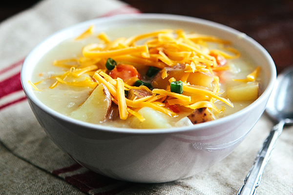 Cheddar Potato Soup | Some the Wiser