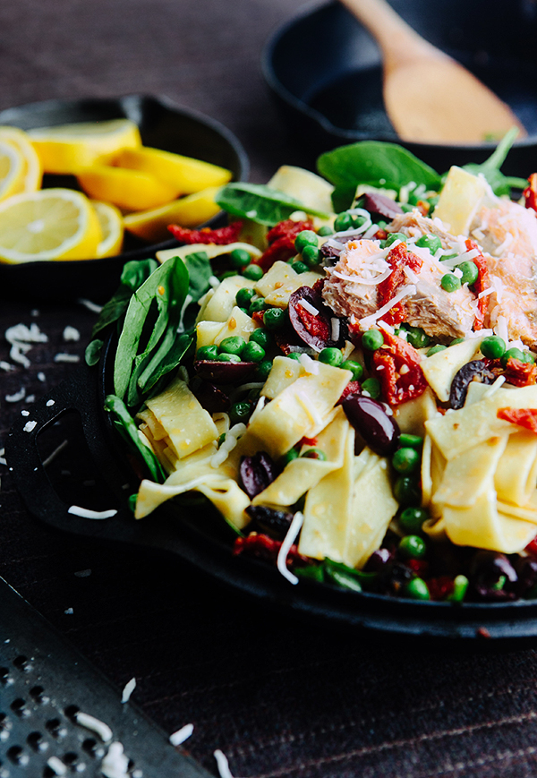 Tomato and Spinach Pasta with Salmon   Some the Wiser