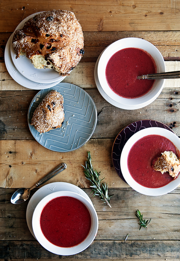 Red Lentil and Rosemary Beet Soup