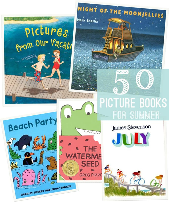 50 Children's Picture Books for Summer - with a printable checklist for the library too!