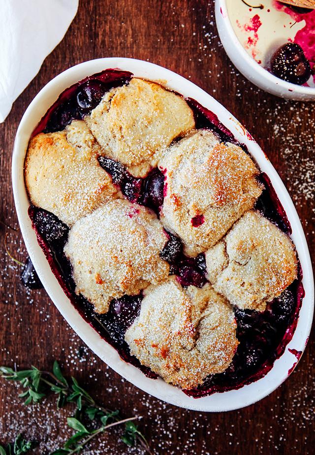 Cherry Blackberry Cobbler
