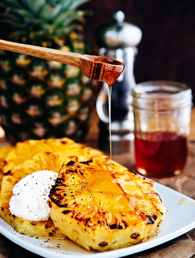 Broiled Pineapple with Honey Ricotta + The Story of Honey