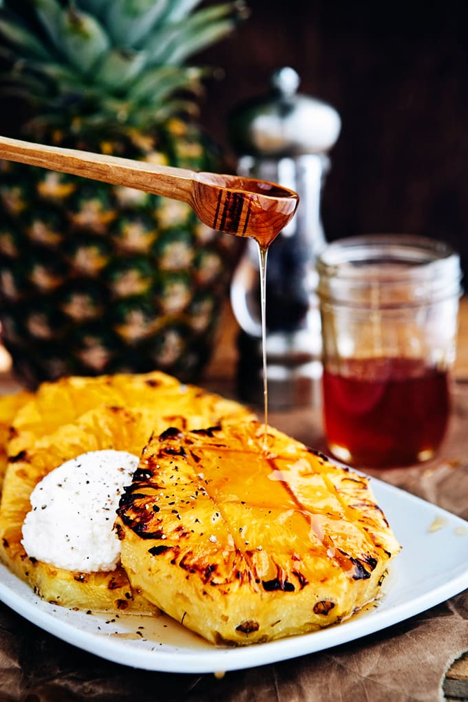 Broiled Pineapple with Honey Ricotta