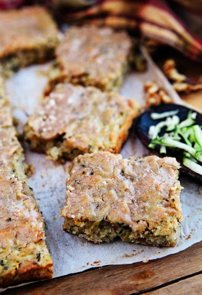 Zucchini Bars with Cinnamon Glaze