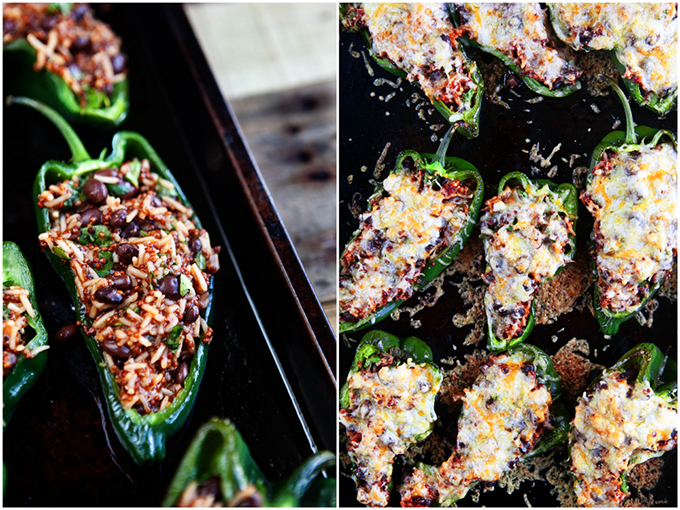 Vegetarian Enchilada Stuffed Poblano Peppers