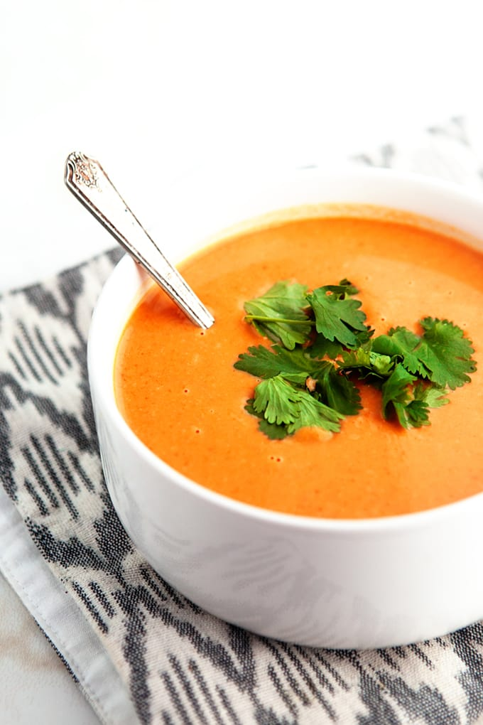 3 Ingredient Pumpkin Soup - simple, easy, but full flavor. Sometimes Less really is More.