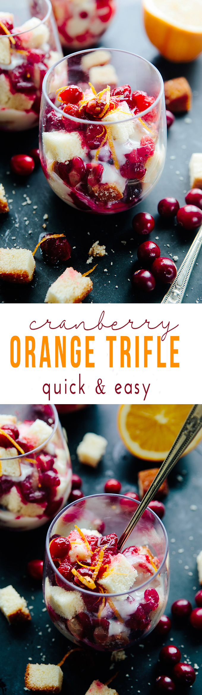 Cranberry Orange Trifle - A simple but stunning (not to mention delicious) holiday dessert.