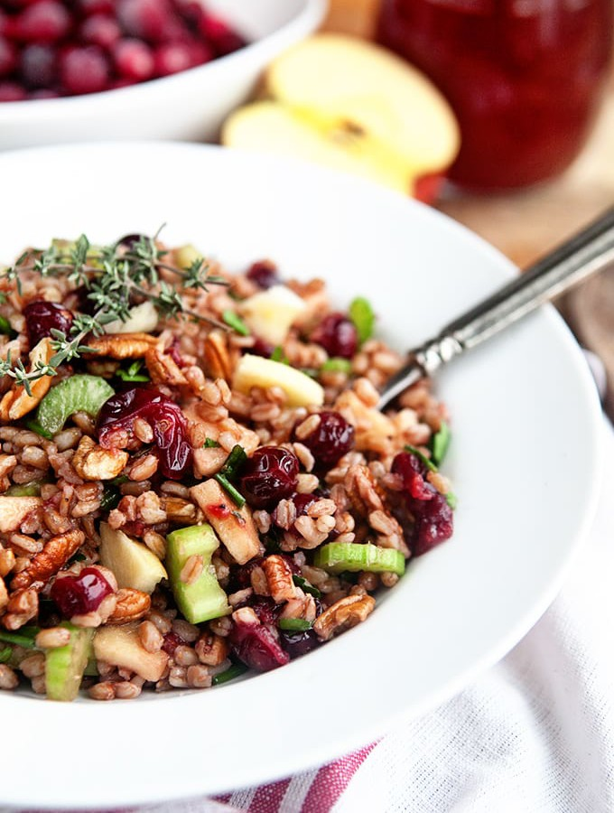 Fresh Cranberry Apple Farro Salad