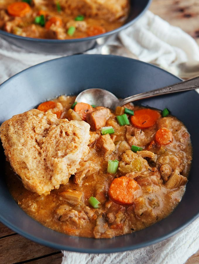 Slow Cooker Chicken and Dumplings (Whole Grain)
