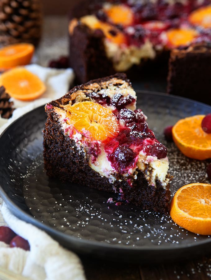 Cranberry Orange Spice Cake with Citrus Cream Cheese