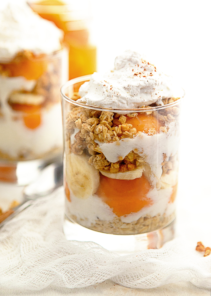 Chai Spiced Yogurt Parfait with Apricots: Breakfast Parfaits are a quick and easy way to start your day! Made with vanilla yogurt, granola, and fruit, they make a fantastic addition to brunch and an easy breakfast recipe.