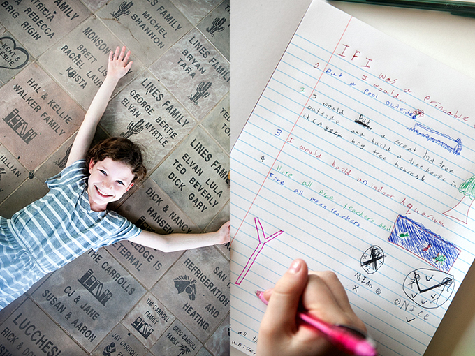 Back to School Writing Prompts:  A fun writing activity for kids. Get ready for school, create a fun keepsake, and practice that handwriting together!