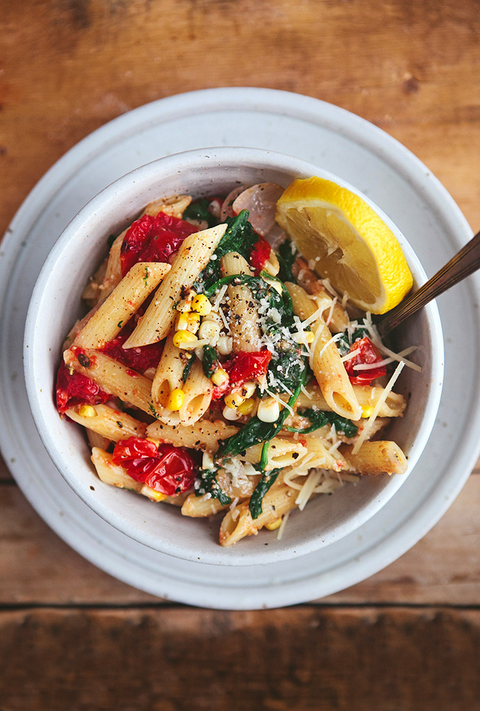 Summer Vegetable Pasta: Quick and Easy, healthy weeknight dinner recipe