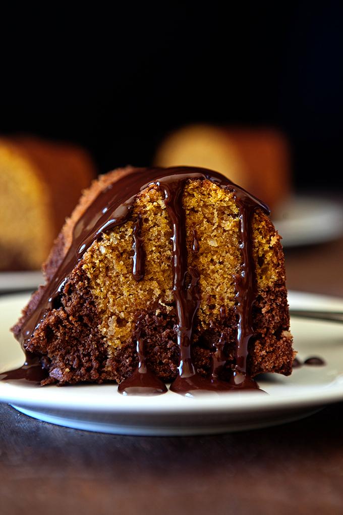 Brownie Pumpkin Bundt Cake