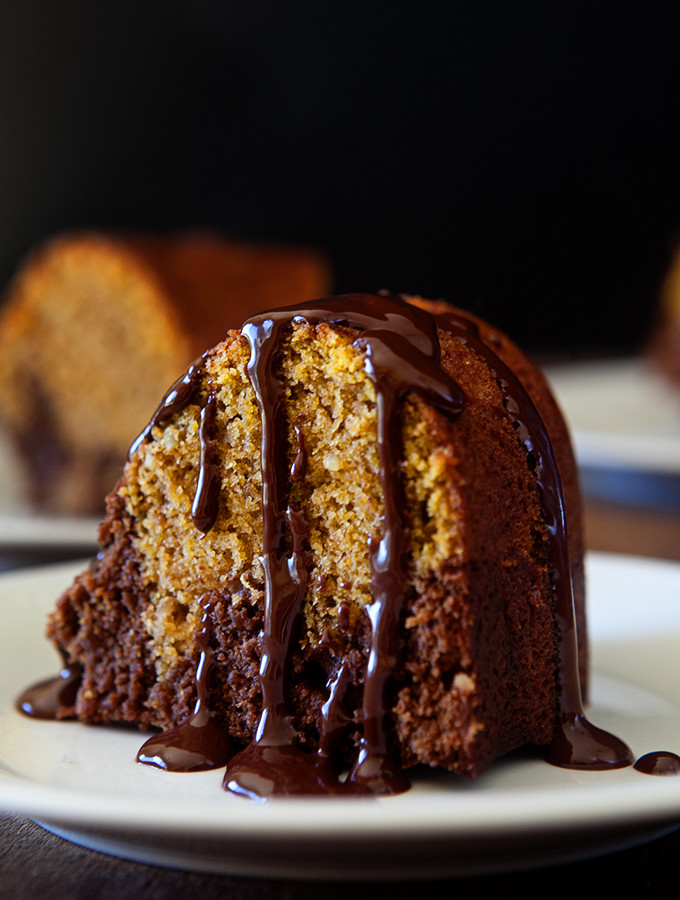 Brownie Pumpkin Bundt Cake