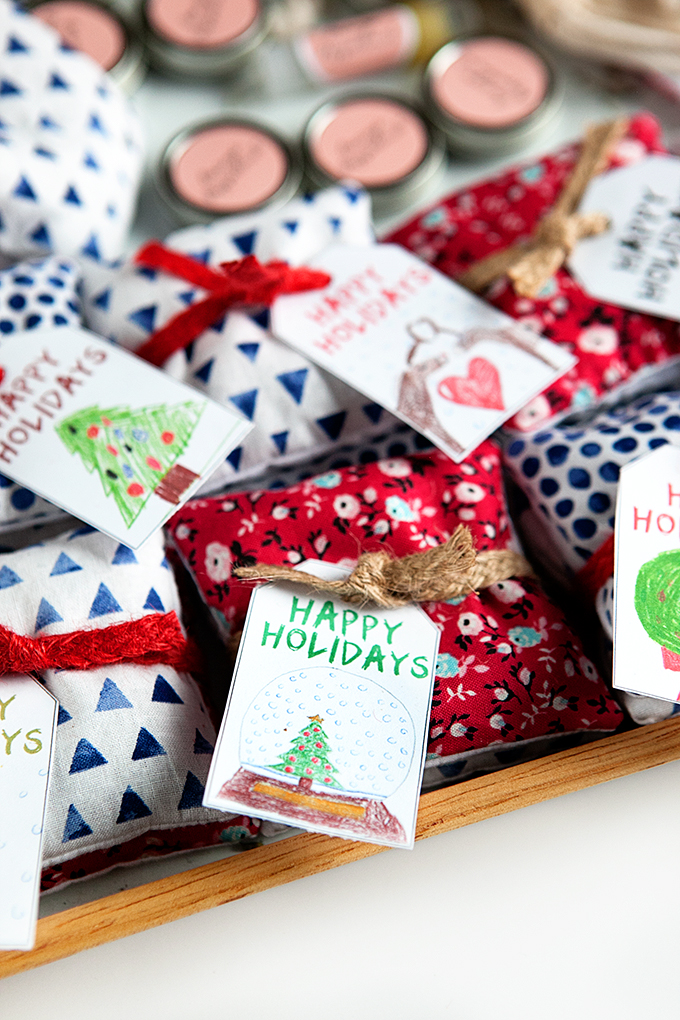 Homemade Gift Ideas: Kid Art Gift Tags, DIY Sachets, and More