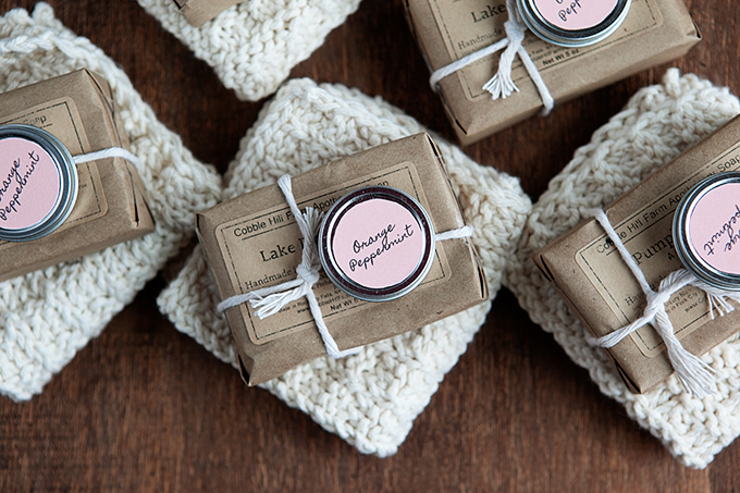 Homemade Gift Ideas: Knit Washcloths, Homemade Lip gloss, and More
