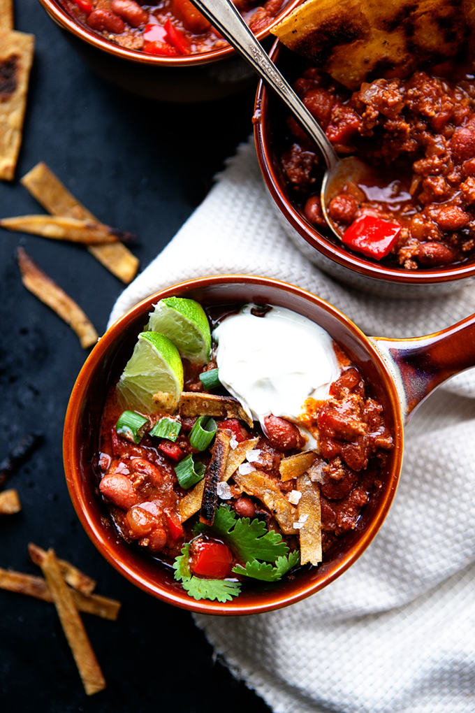 Easy Three Bean Chocolate Chili